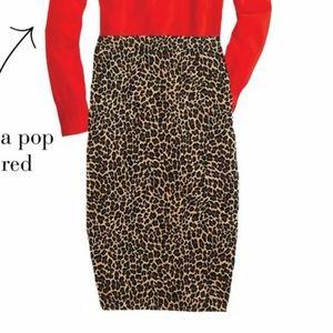 J.Crew Leopard Pencil Skirt